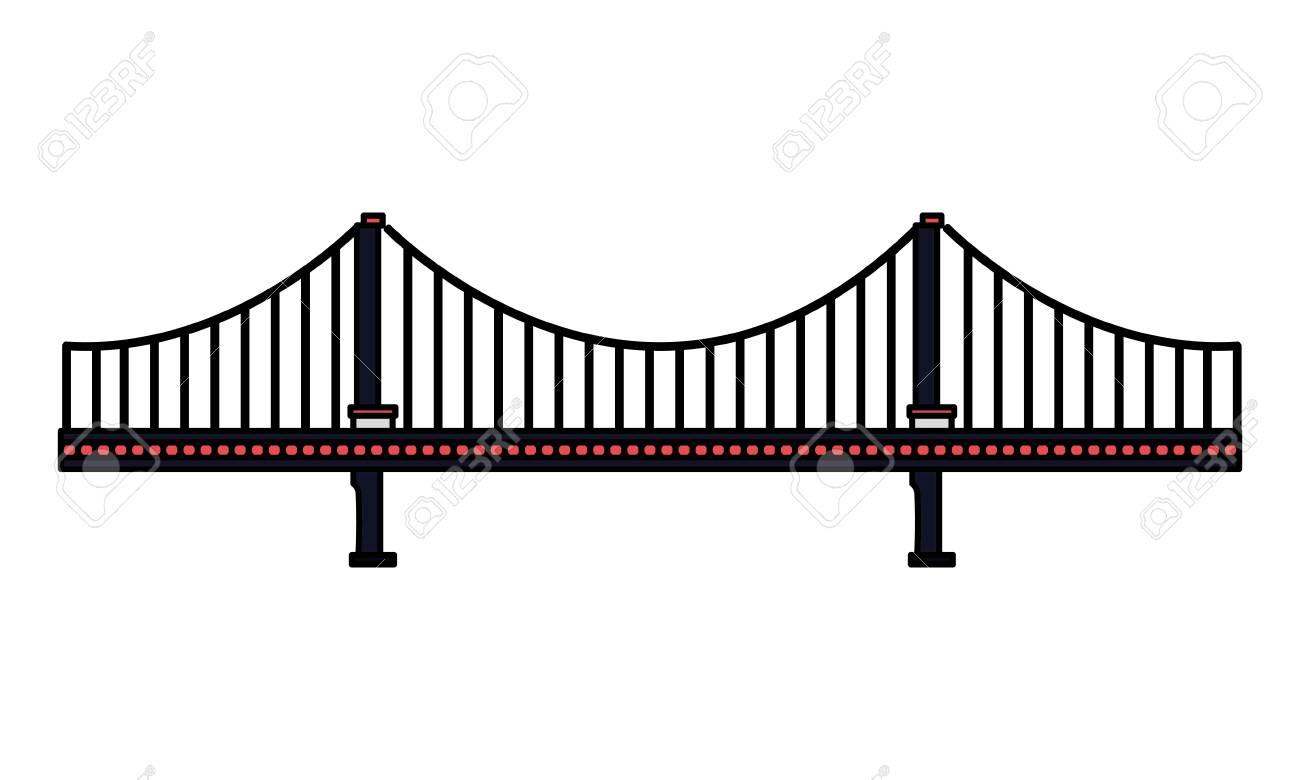 bridge architecture on white background vector illustration - 126015000