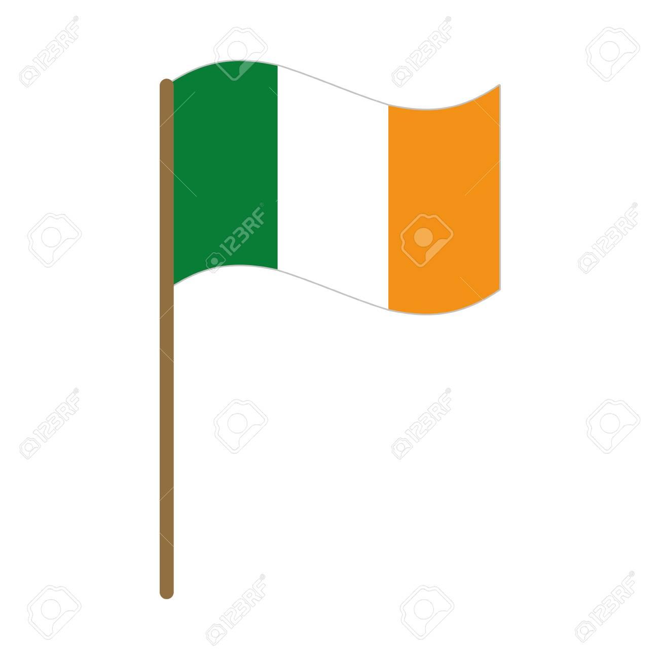 ireland flag isolated icon vector illustration design - 125896498