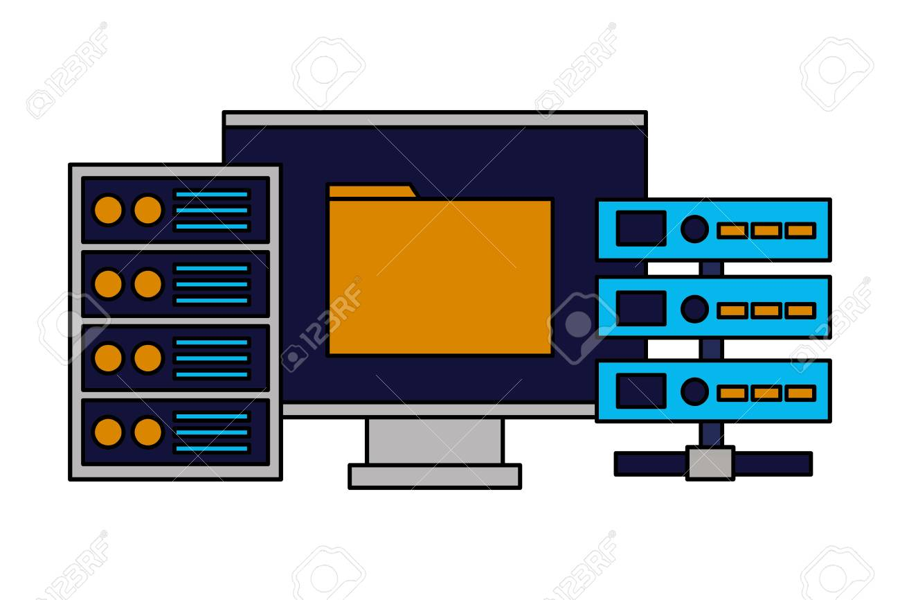 computer folder database server cpu vector illustration royalty free cliparts vectors and stock illustration image 125820798 computer folder database server cpu vector illustration