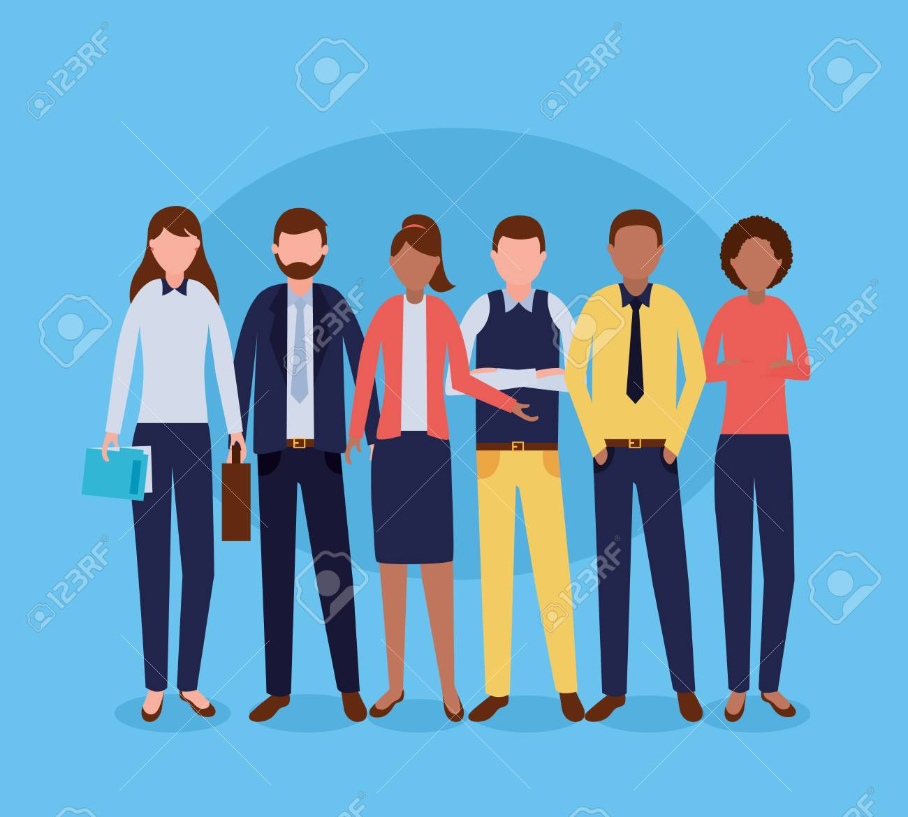 group costume work business people vector illustration - 116254551