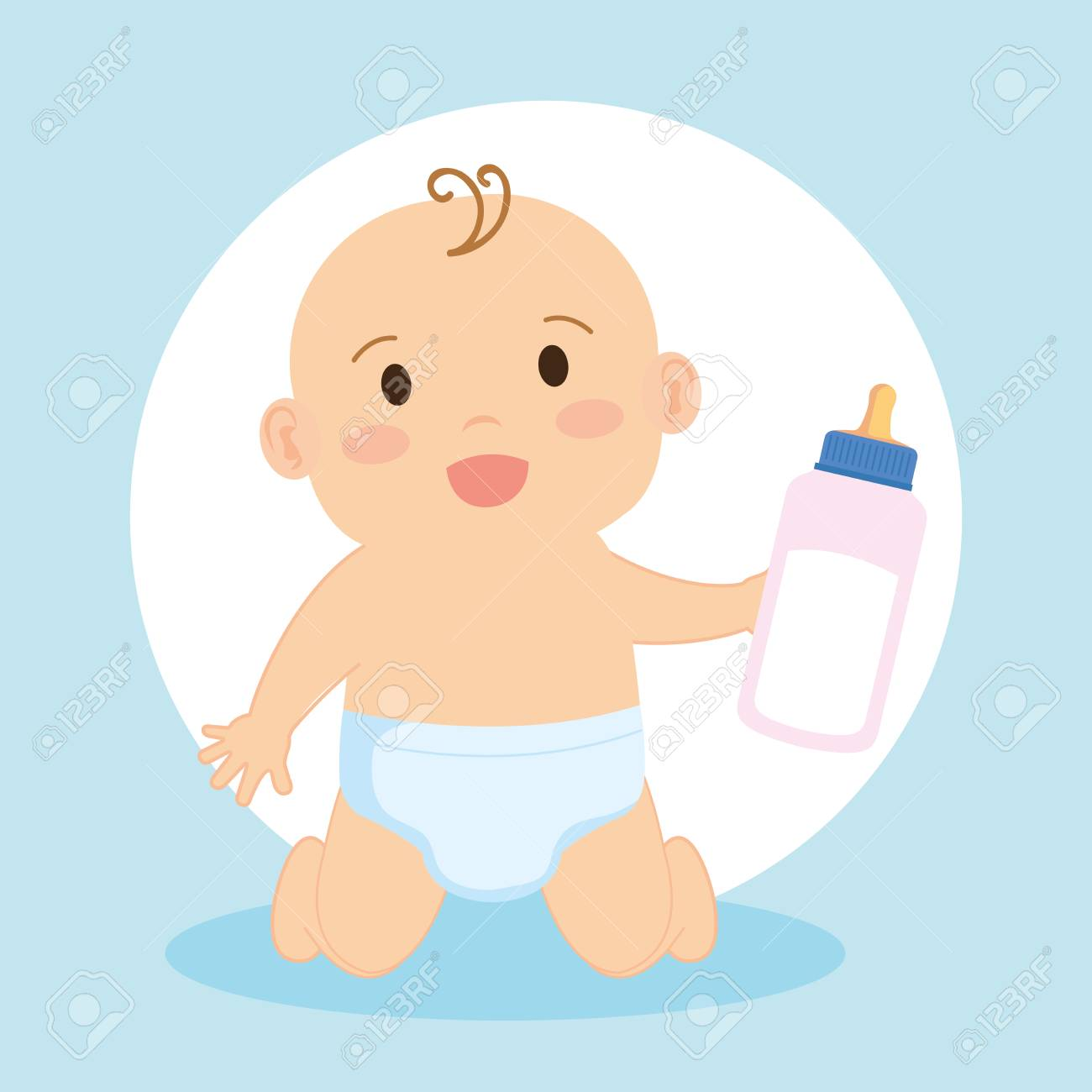 cute little baby character vector illustration design - 125597119
