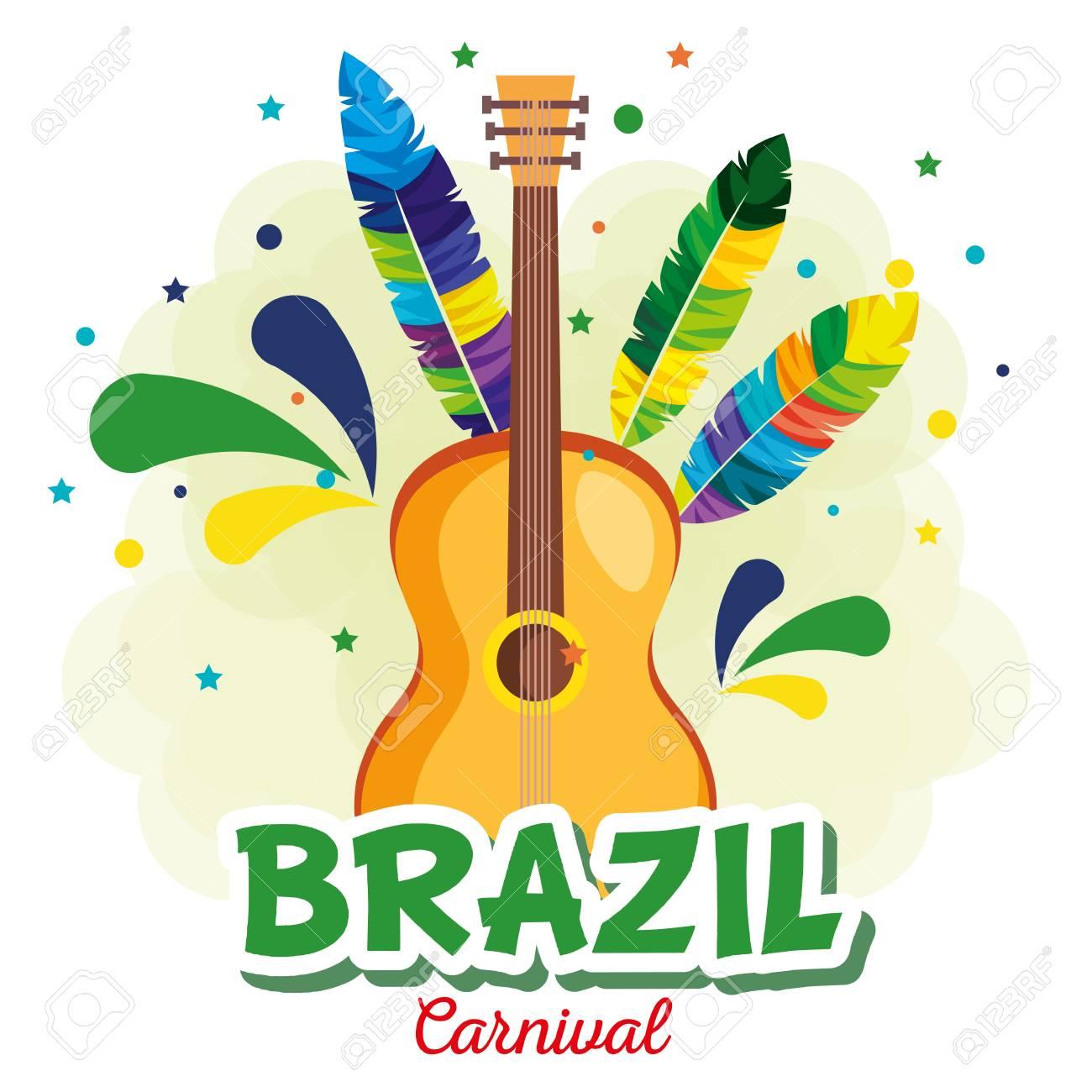 carnival brazilian card vector illustration design - 116297544