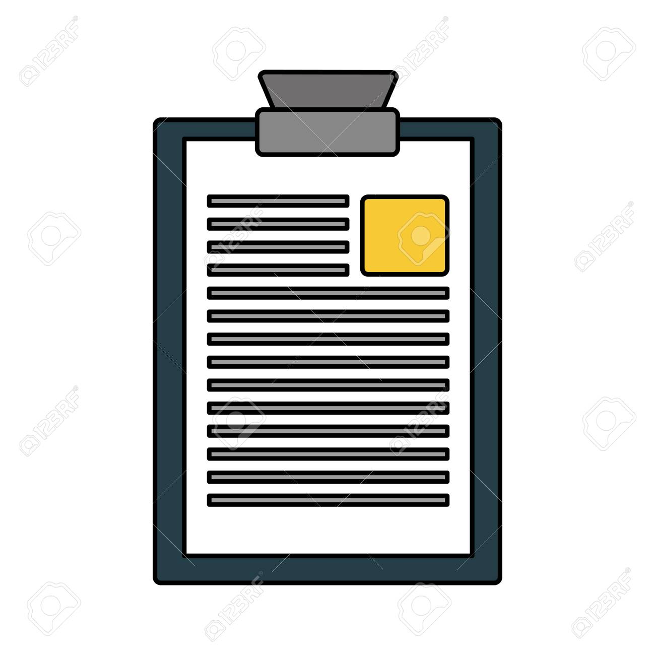clipboard report document on white background vector illustration - 125272973