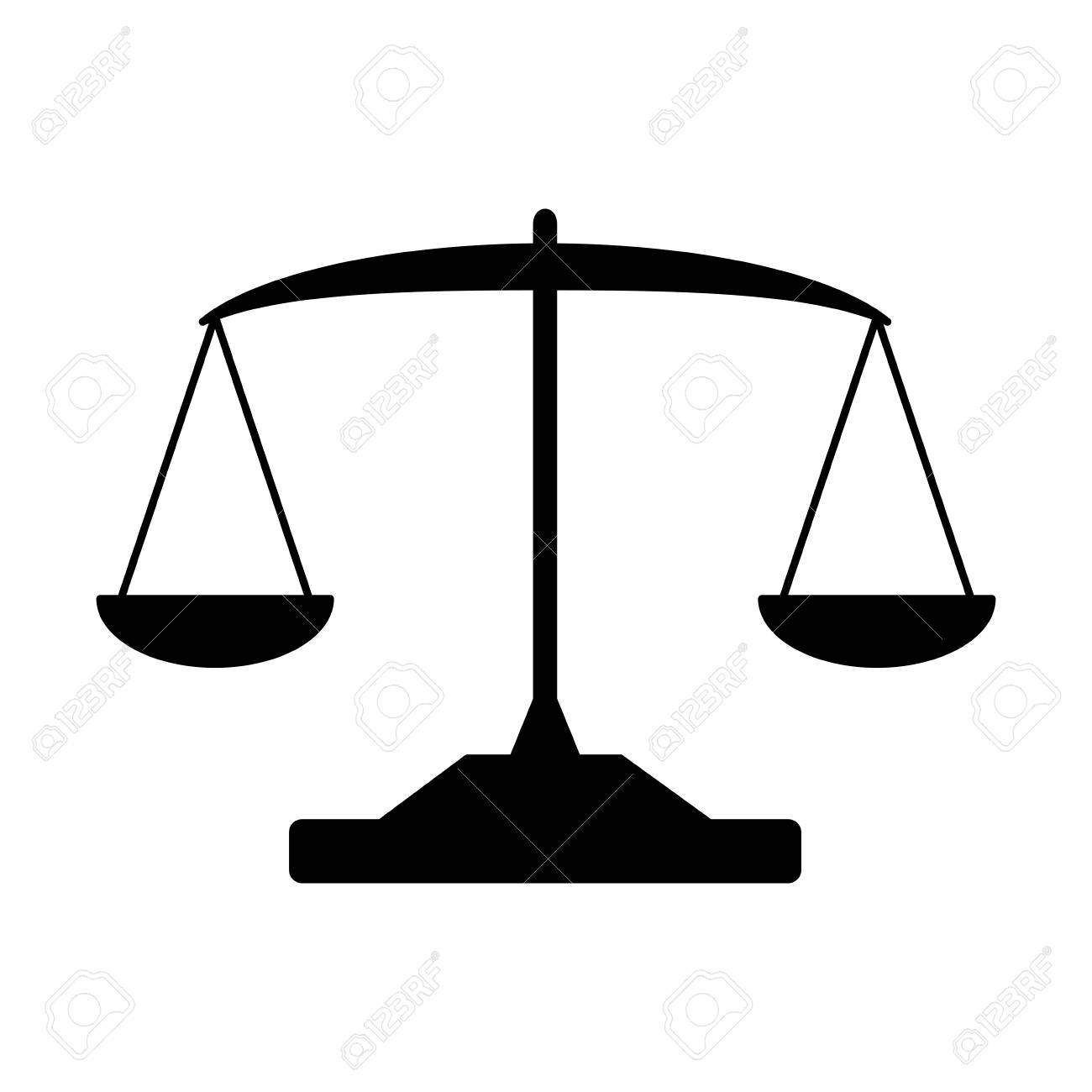 balance law scale on white background vector illustration - 125272986
