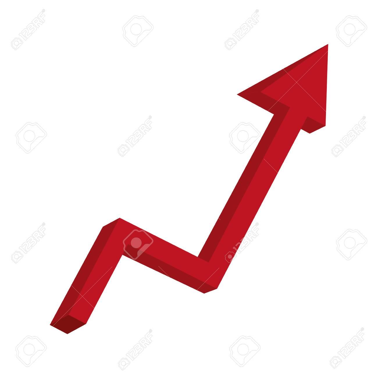 arrow statistics up icon vector illustration design - 117336461