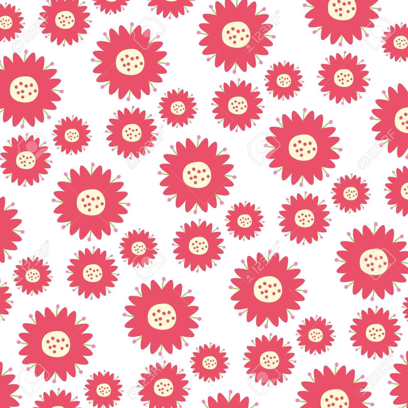 background flowers leaves natural decoration vector illustration - 124280110