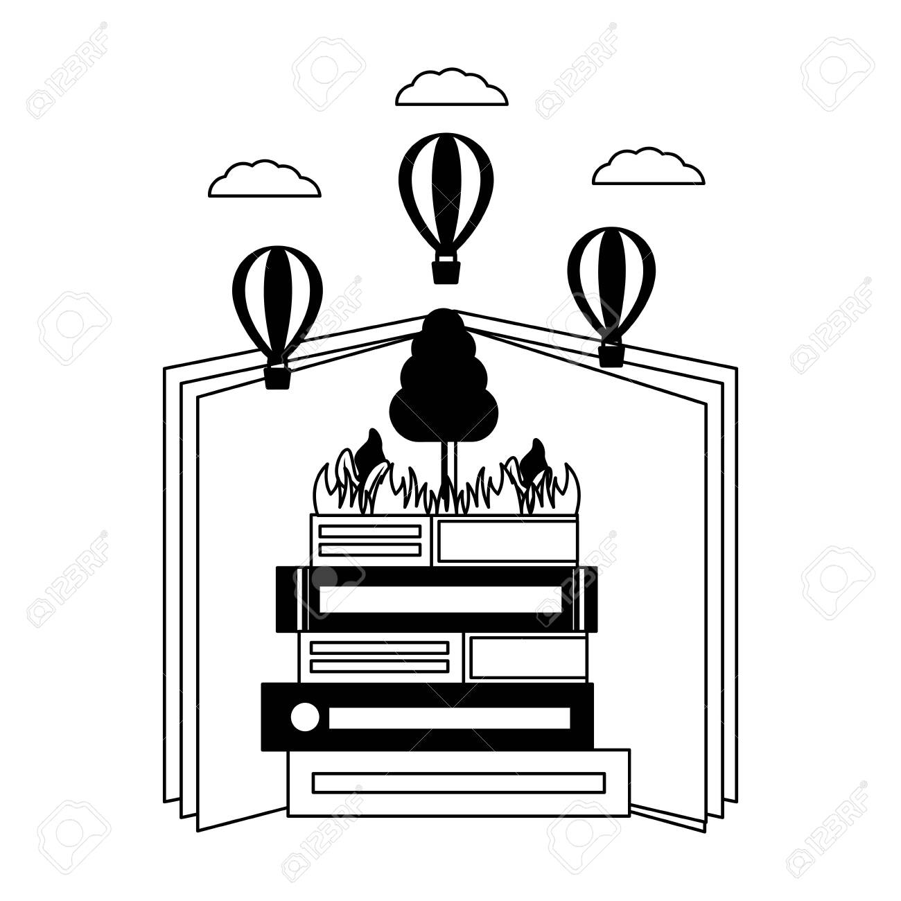 world book day literature learn know vector illustration - 124267893