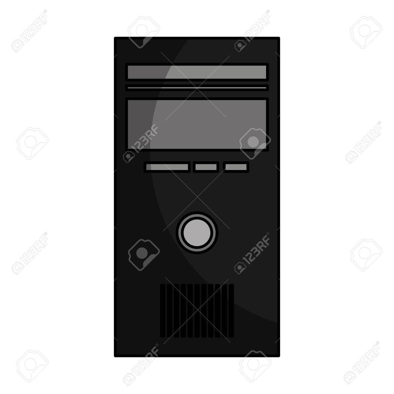 computer desktop cpu isolated icon vector illustration design - 124202197