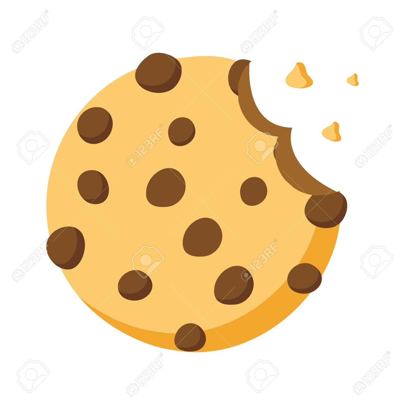 sweet cookie dessert bite vector illustration design - 119798786