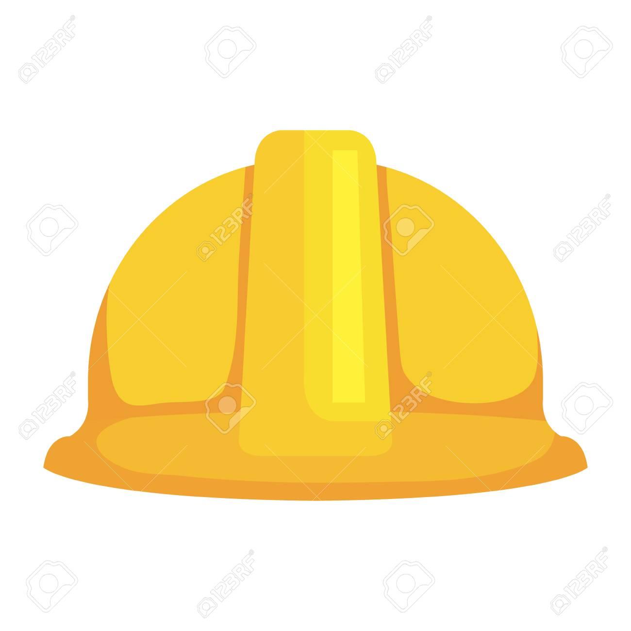 construction helmet protection icon vector illustration design - 123390186