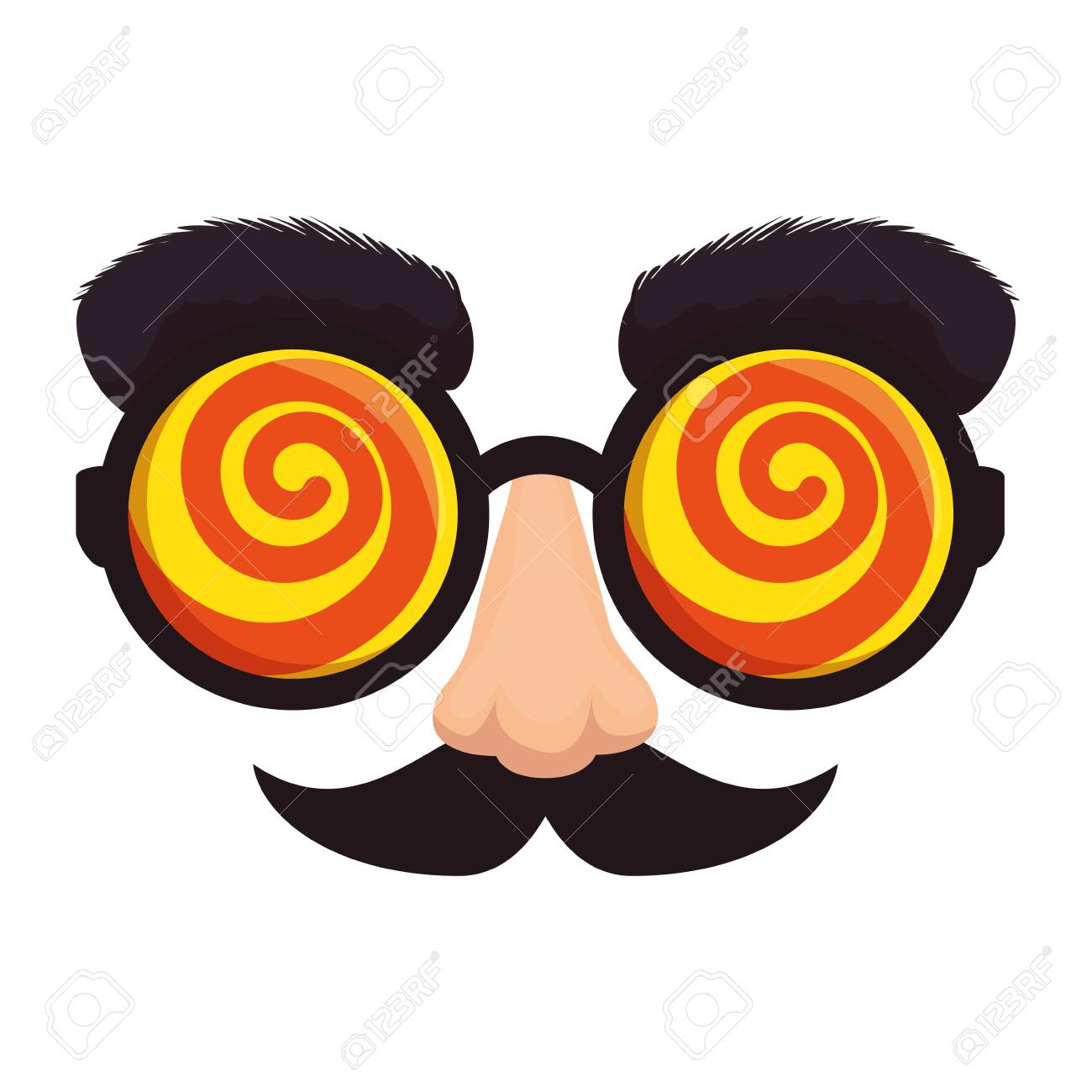 fools day mask glasses and mustache vector illustration design - 123232152