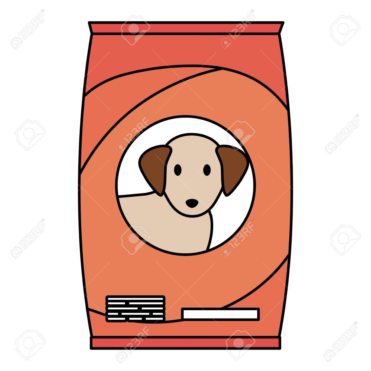 dog food bag icon vector illustration design - 123057802