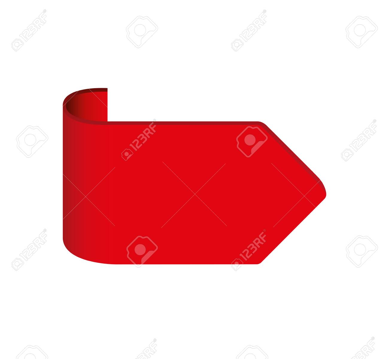 arrow flage isolated icon vector illustration design - 121894710
