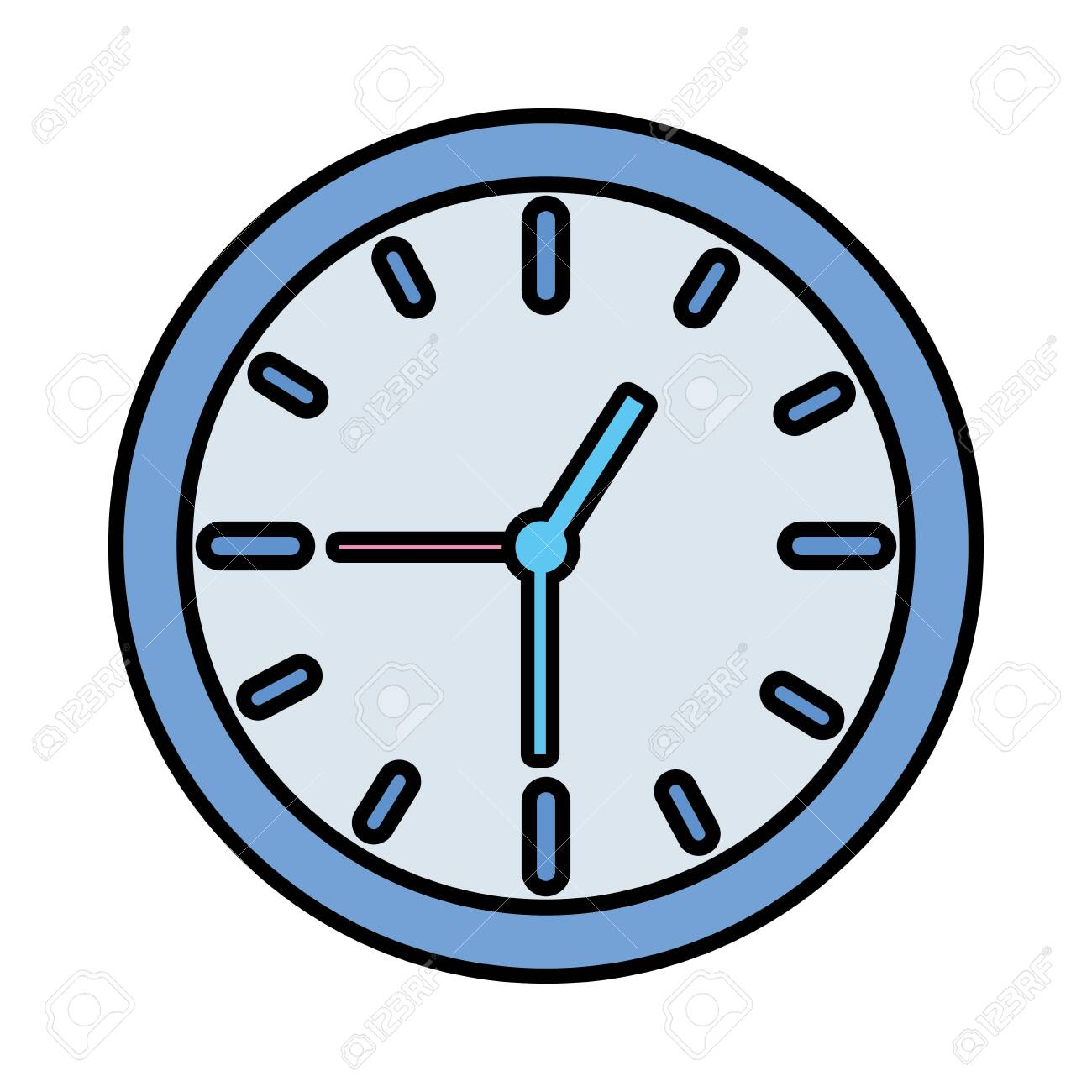 clock time icon on white background vector illustration vector illustration - 122647400