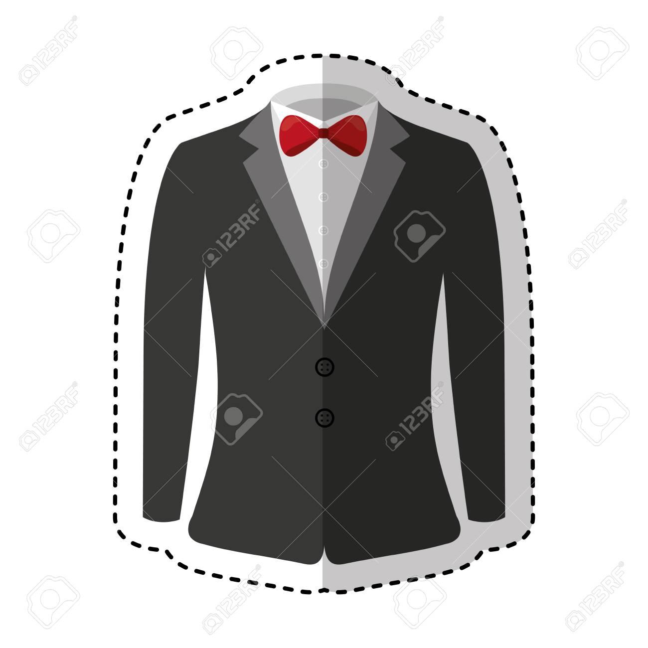 elegant gentleman suit icon vector illustration design