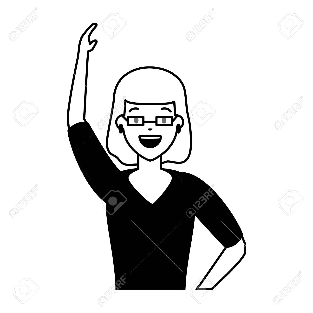 woman character portrait on white background vector illustration - 124311792