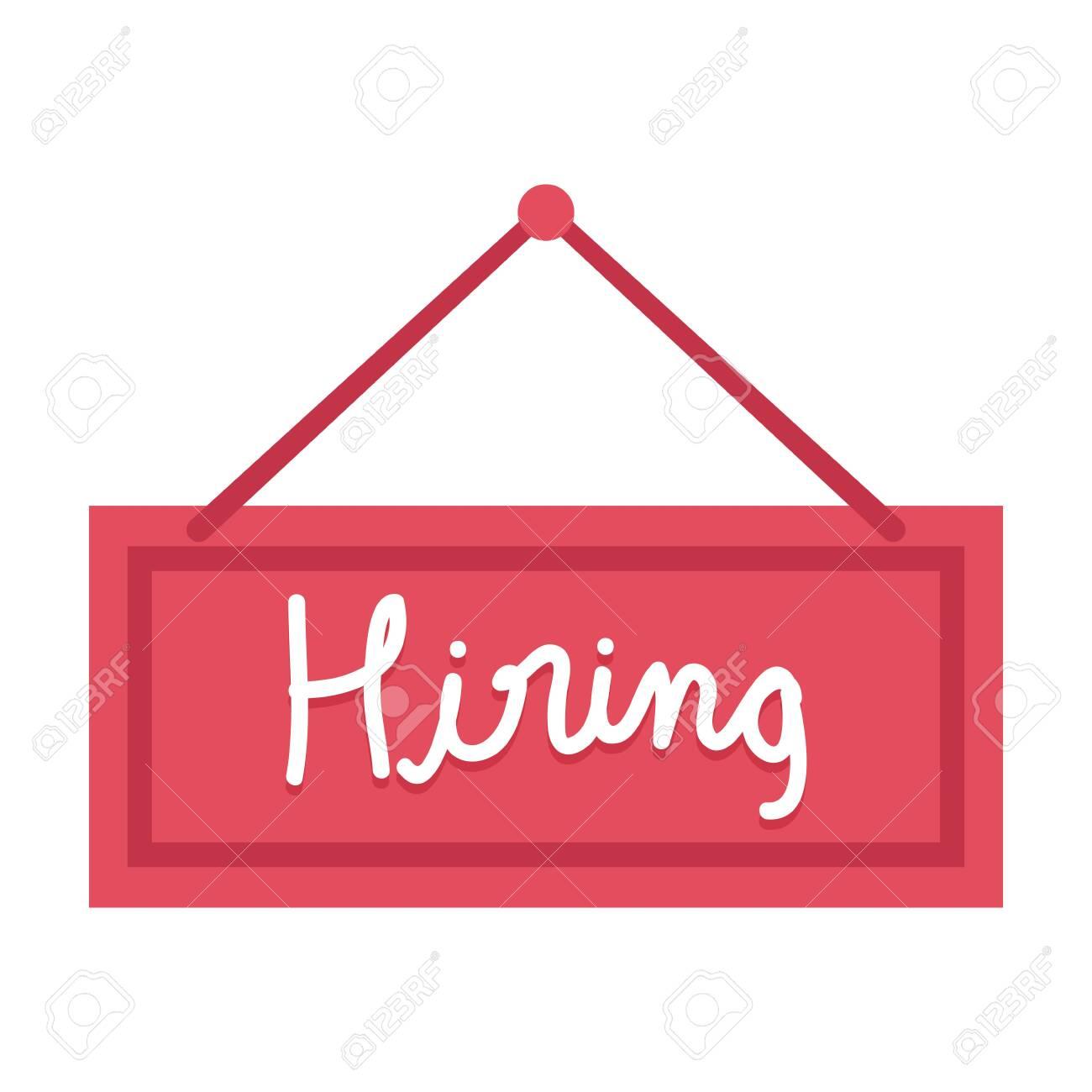 hiring label hanging icon vector illustration design - 124699369