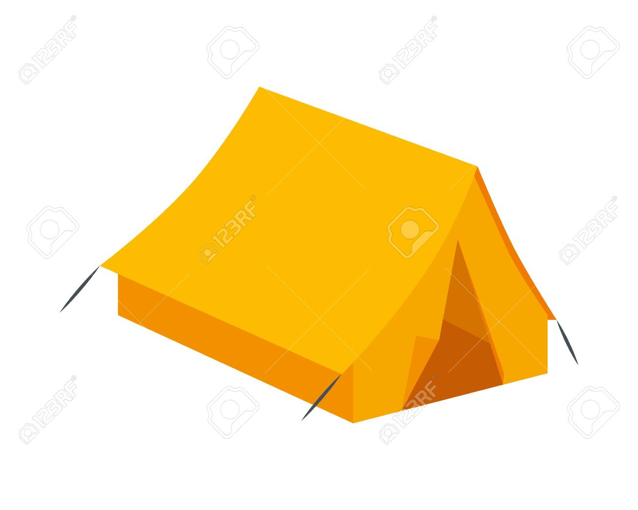tent camping accessory isolated icon vector illustration design - 124940493