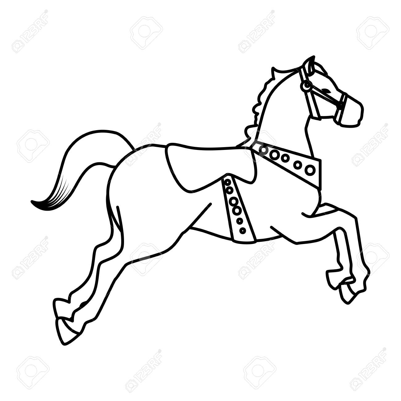 Carousel Horse Carnival Icon Vector Illustration Design Royalty Free Cliparts Vectors And Stock Illustration Image 125825850
