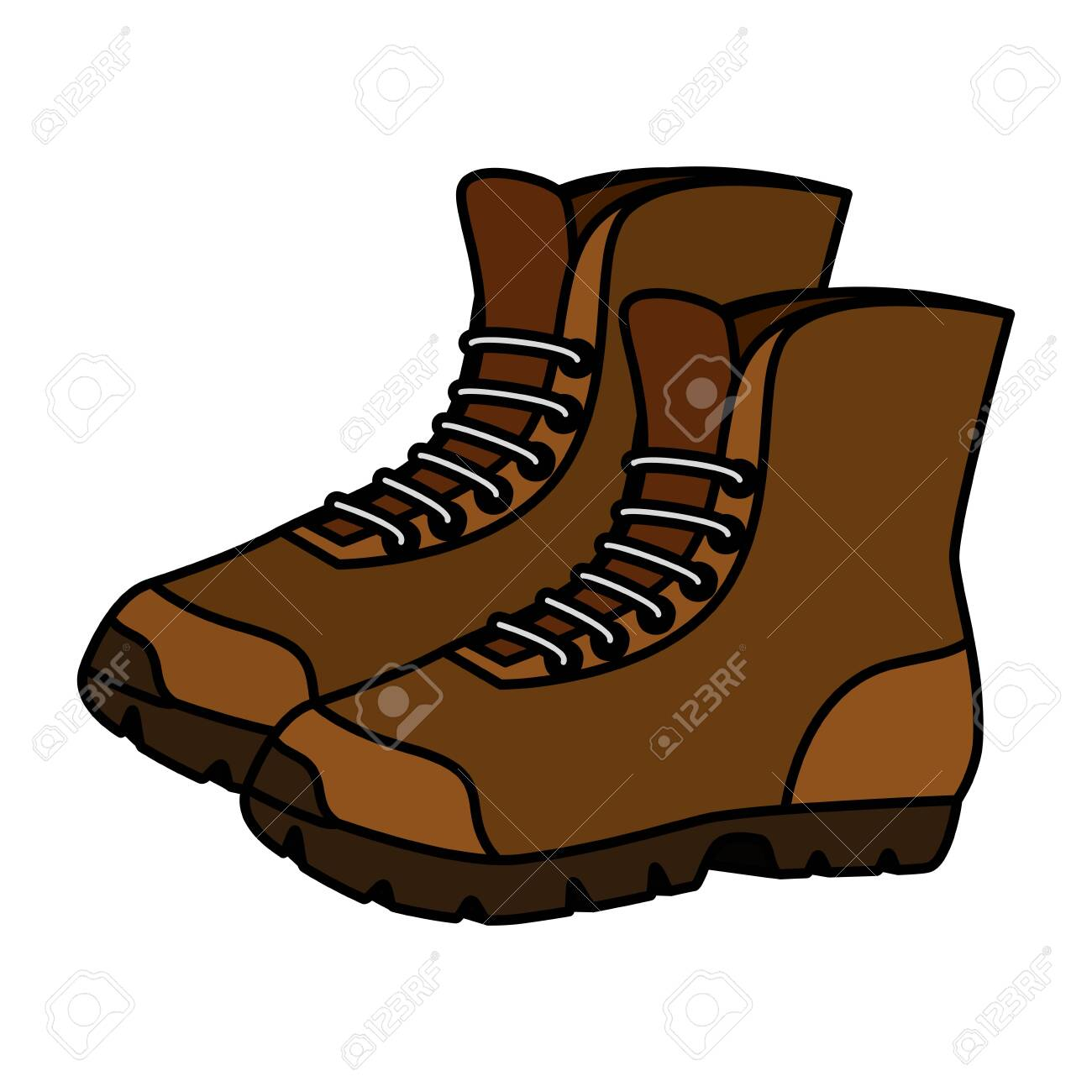 boots shoes adventure accessory icon vector illustration design - 129367081