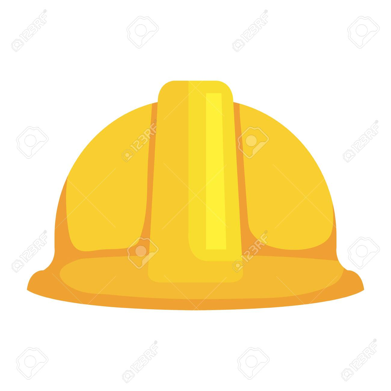 construction helmet protection icon vector illustration design - 129482507
