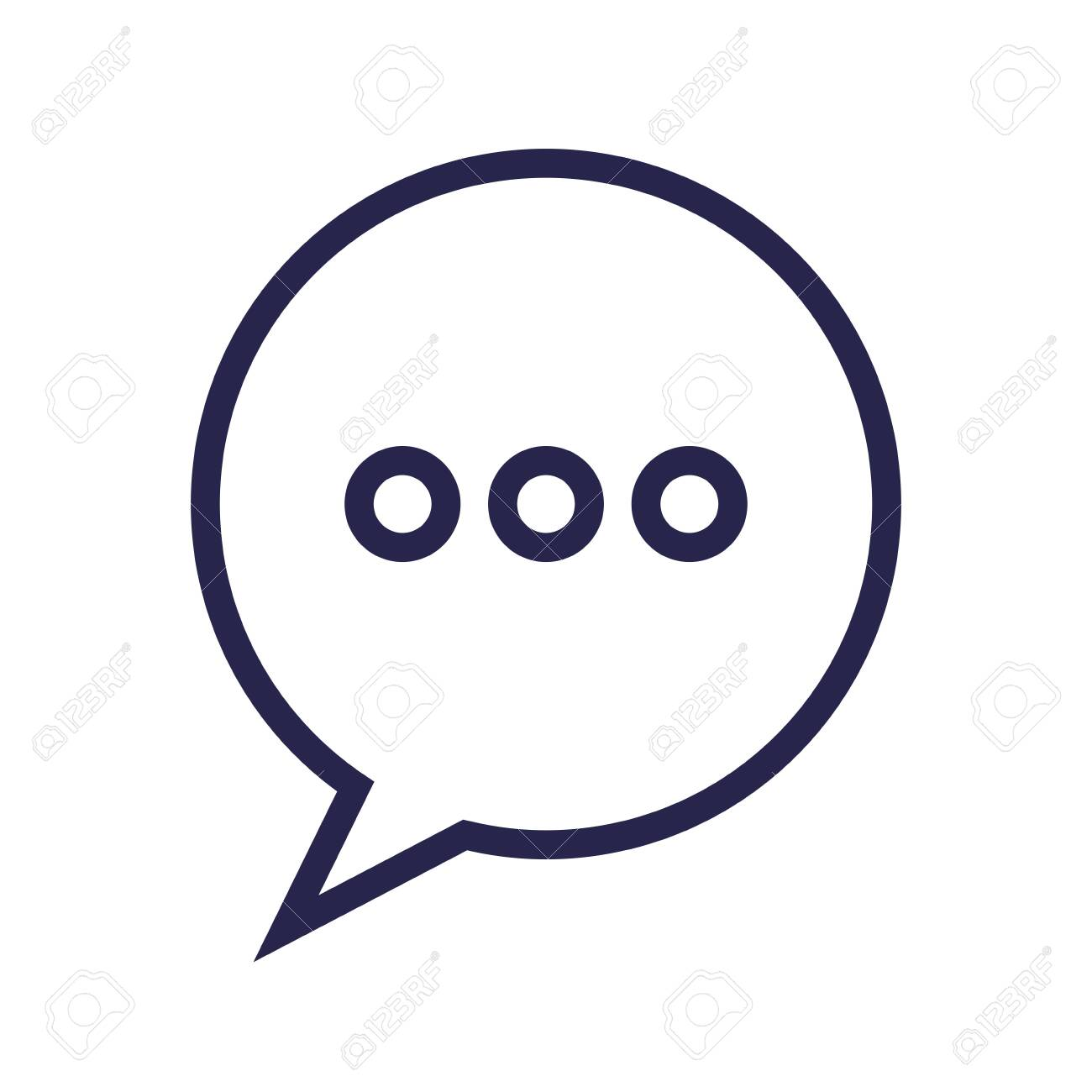 speech bubble message isolated icon vector illustration design - 129501192