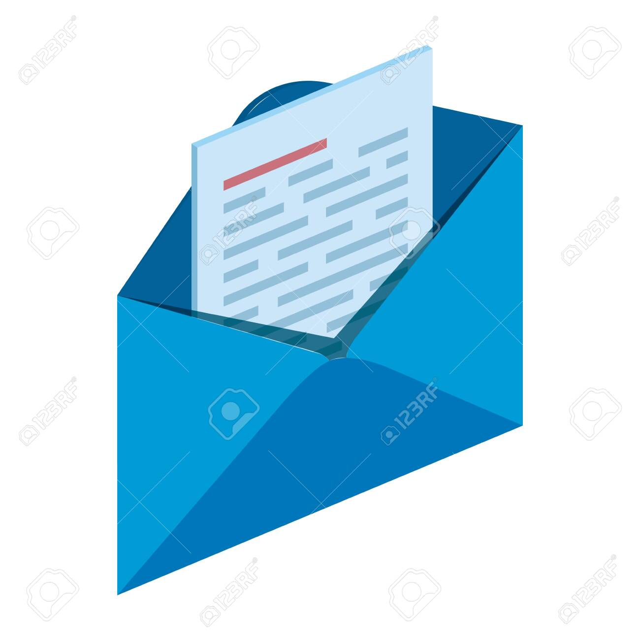 envelope mail send isolated icon vector illustration design - 129733362