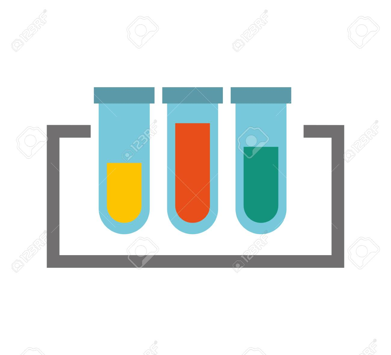 tube test isolated icon vector illustration design - 129736801