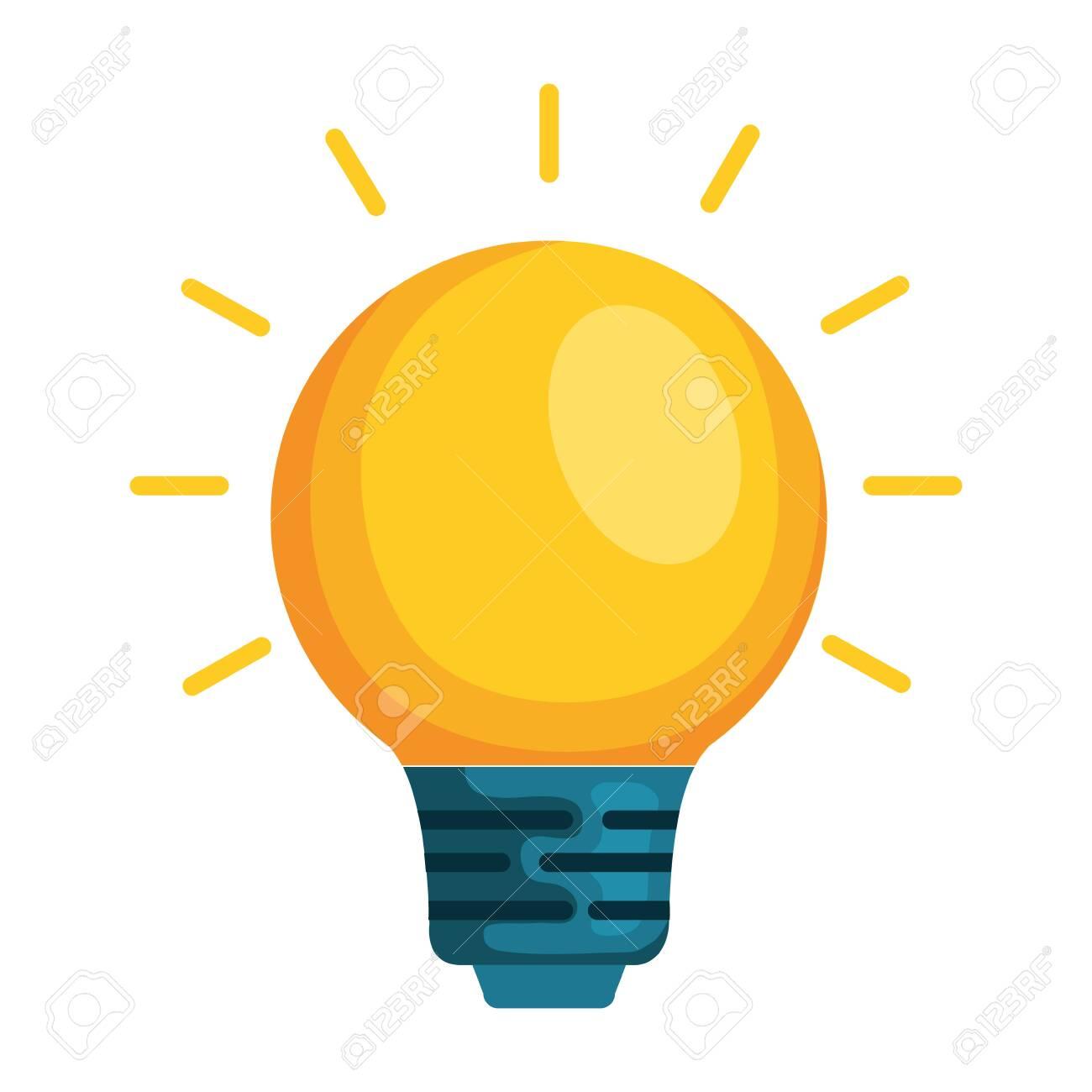 bulb light isolated icon vector illustration design - 129795717