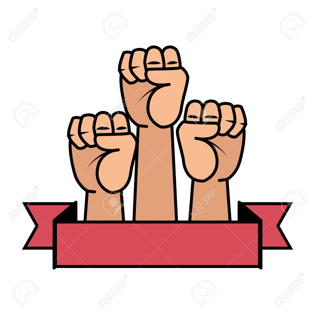 hands up fists icons vector illustration design - 129824957