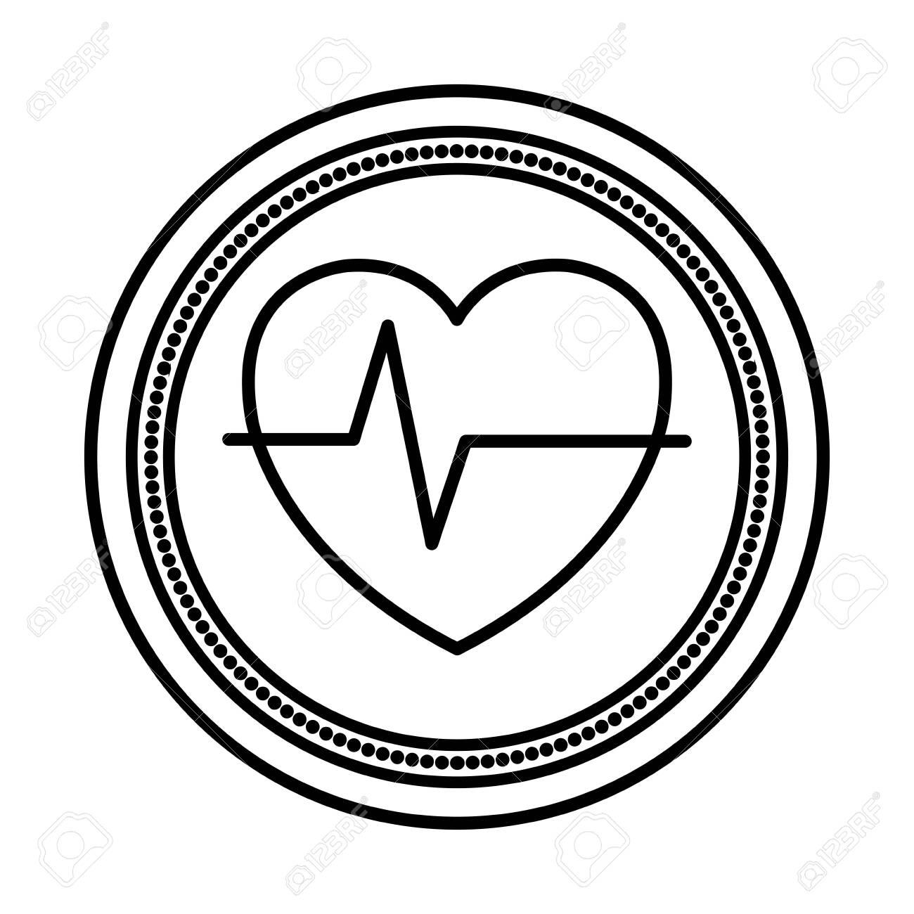 heart cardio medical isolated icon vector illustration design - 130501078