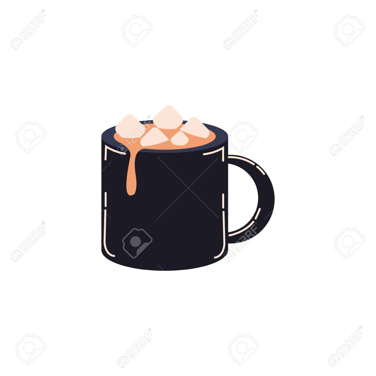 mug with chocolate beverage icon vector illustration design - 132661279