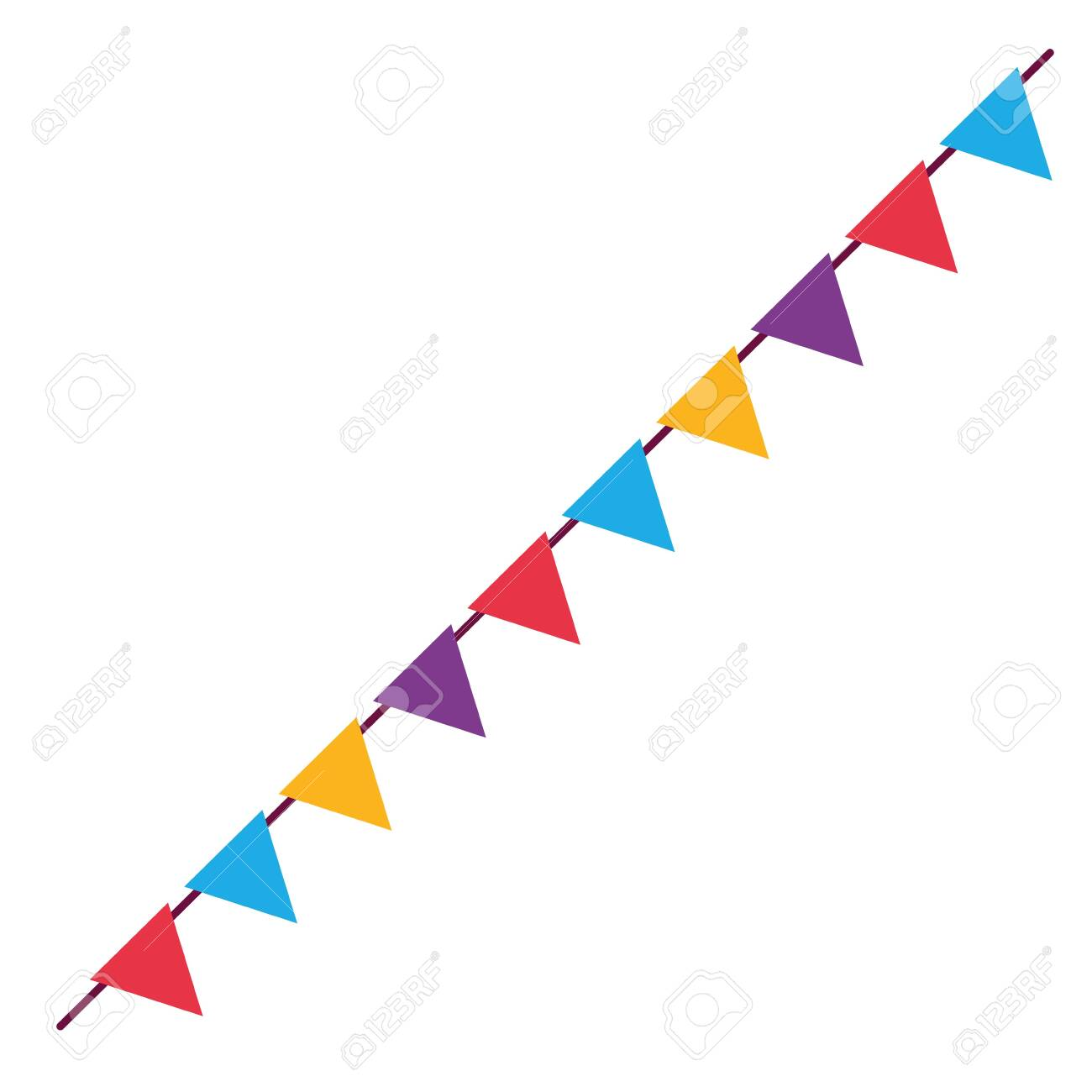 Banner Pennant Design Flag Event Line Sports Decoration And Royalty Free Cliparts Vectors And Stock Illustration Image 132687706