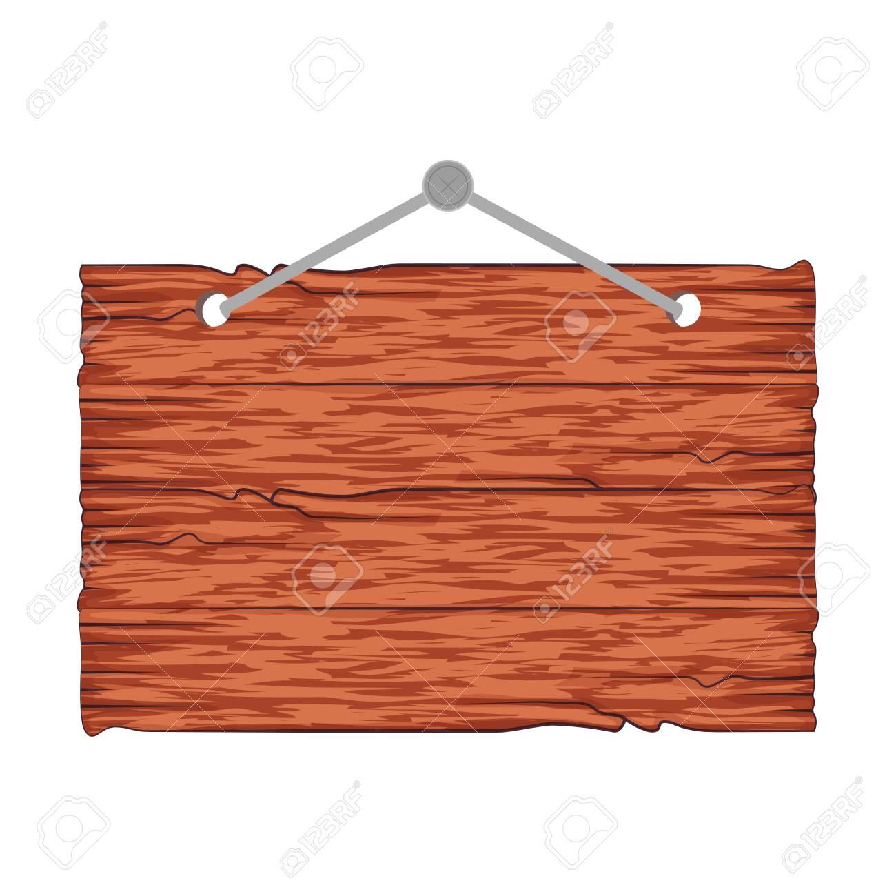 wooden label hanging icon vector illustration design - 133058232
