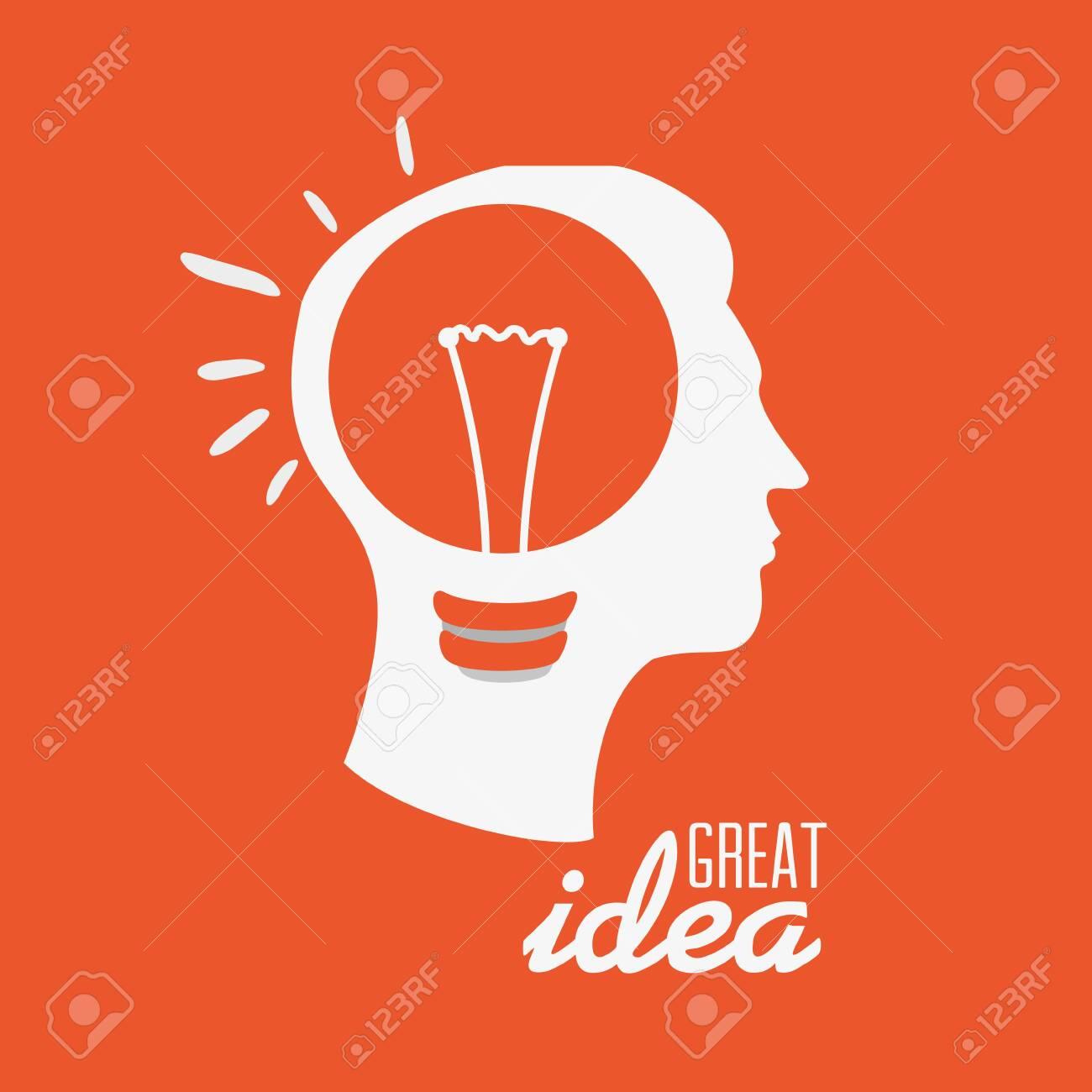 Idea design over orange background, vector illustration. - 133839430