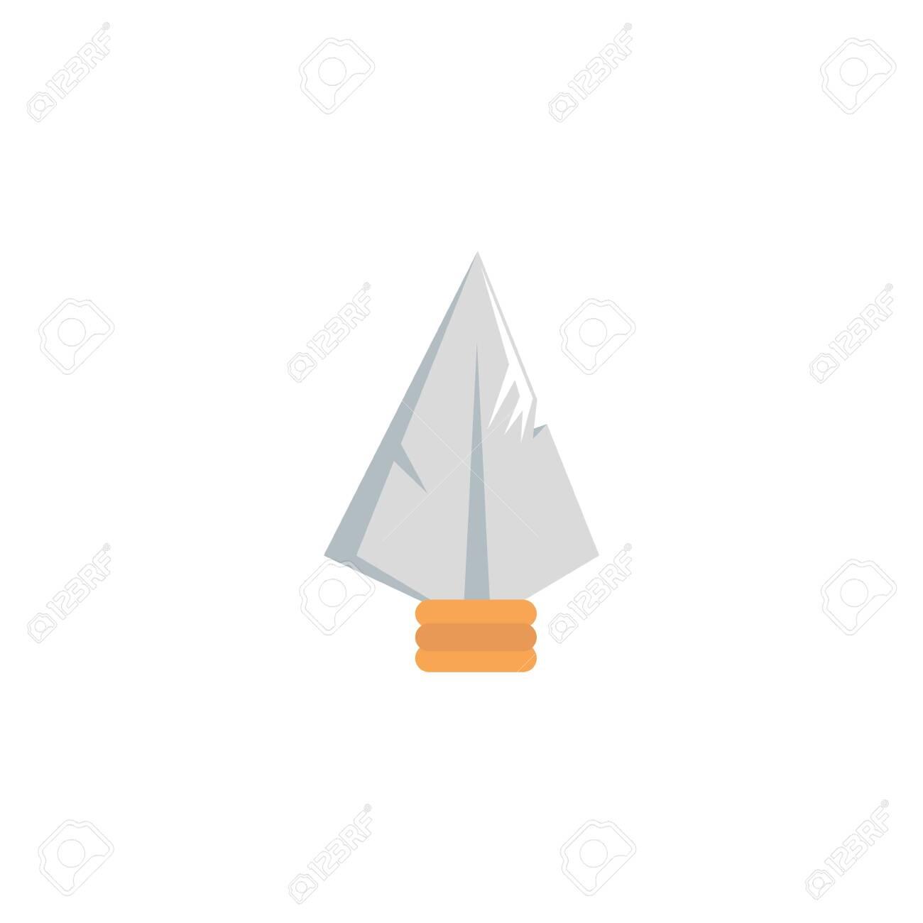 fairytale spearhead fantastic isolated icon vector illustration design - 133849472