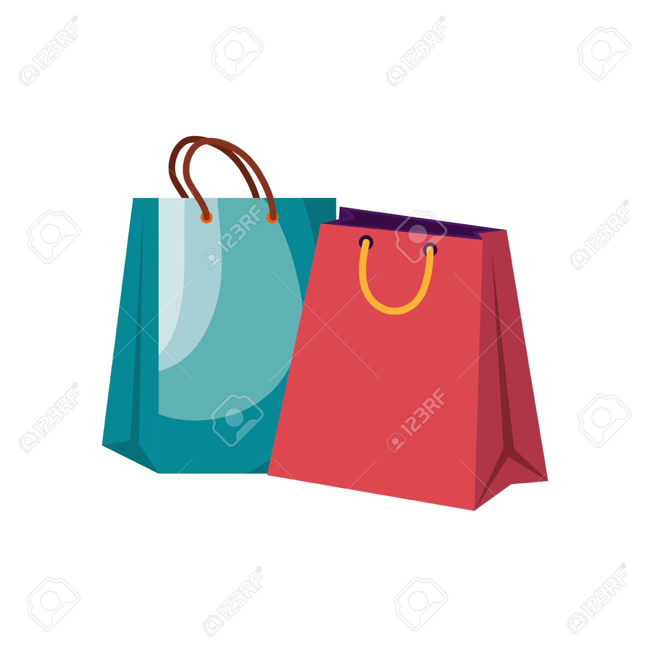 shopping bags handle isolated icons vector illustration design - 133923669