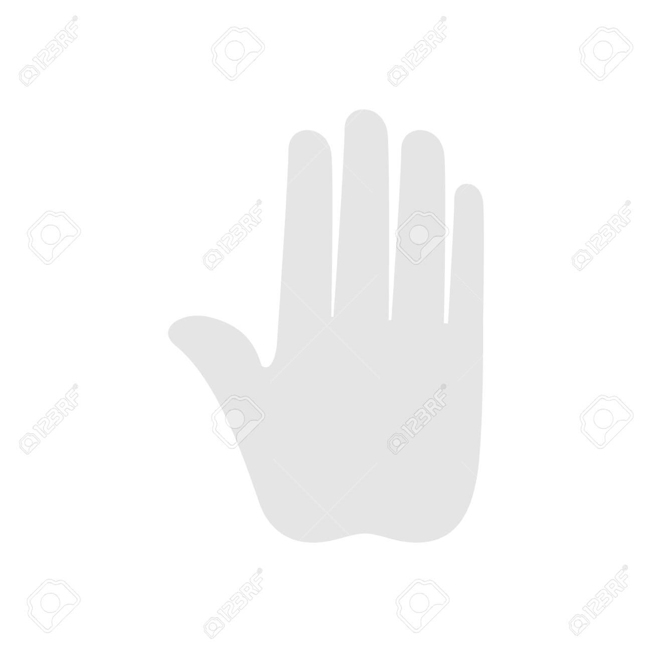 silhouette of hand stop isolated icon vector illustration design - 134035149