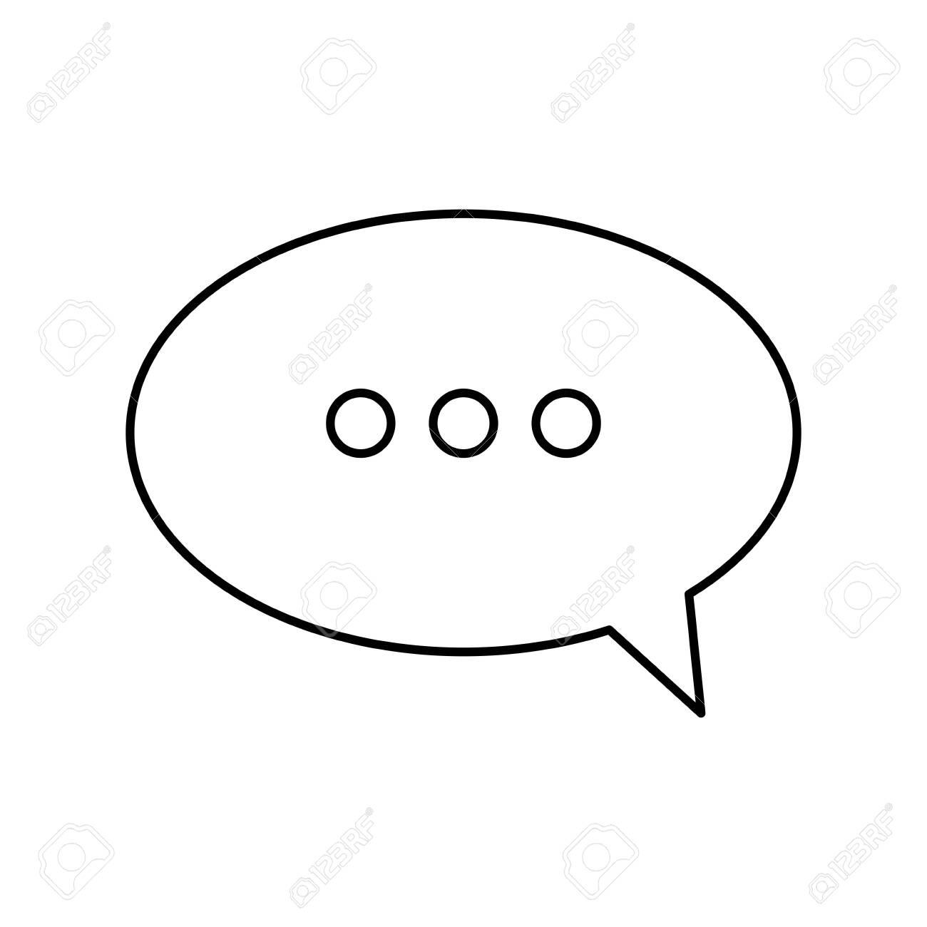 speech bubble line style icon vector illustration design - 135694412