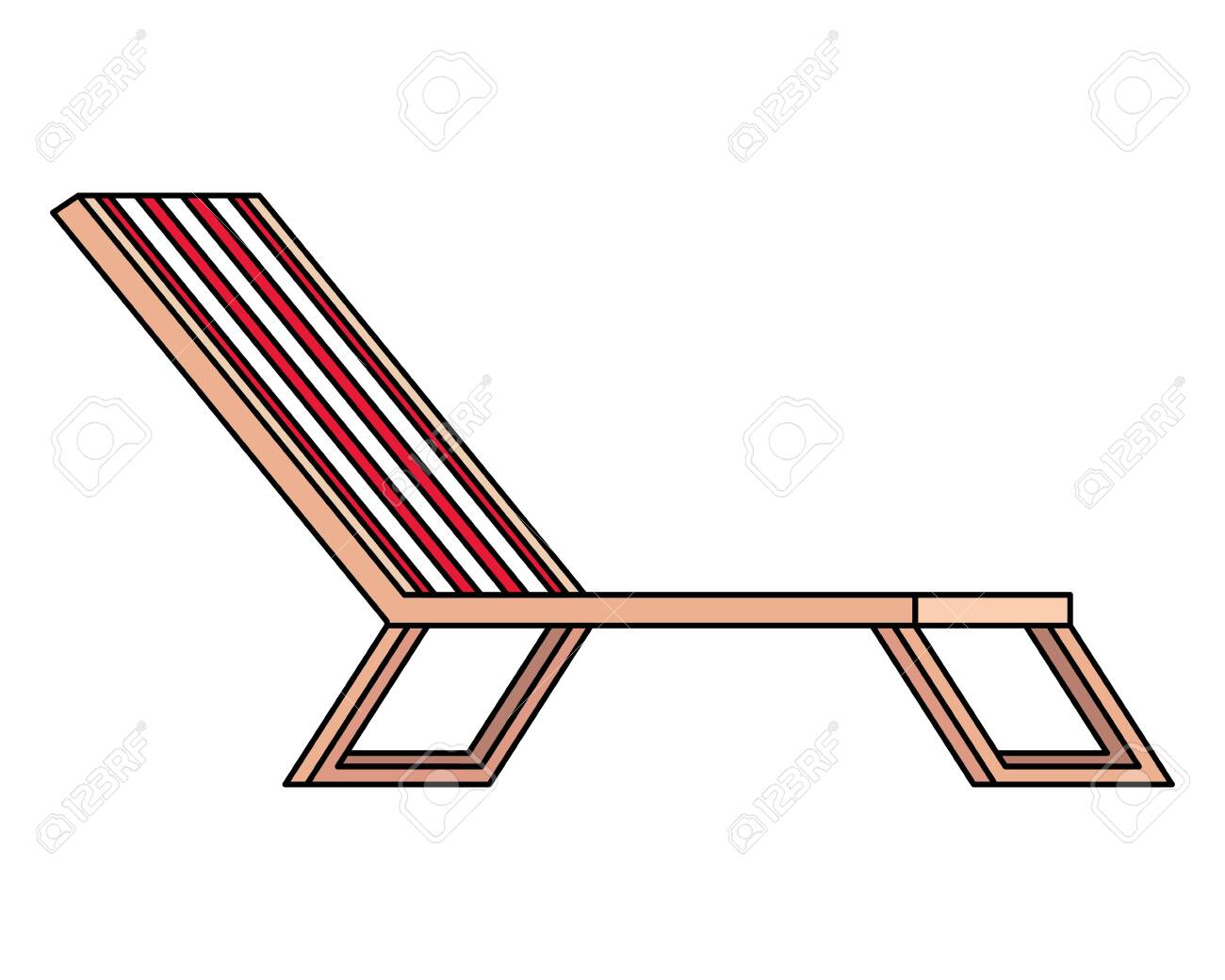 beach chair confort isolated icon vector illustration design - 136511590