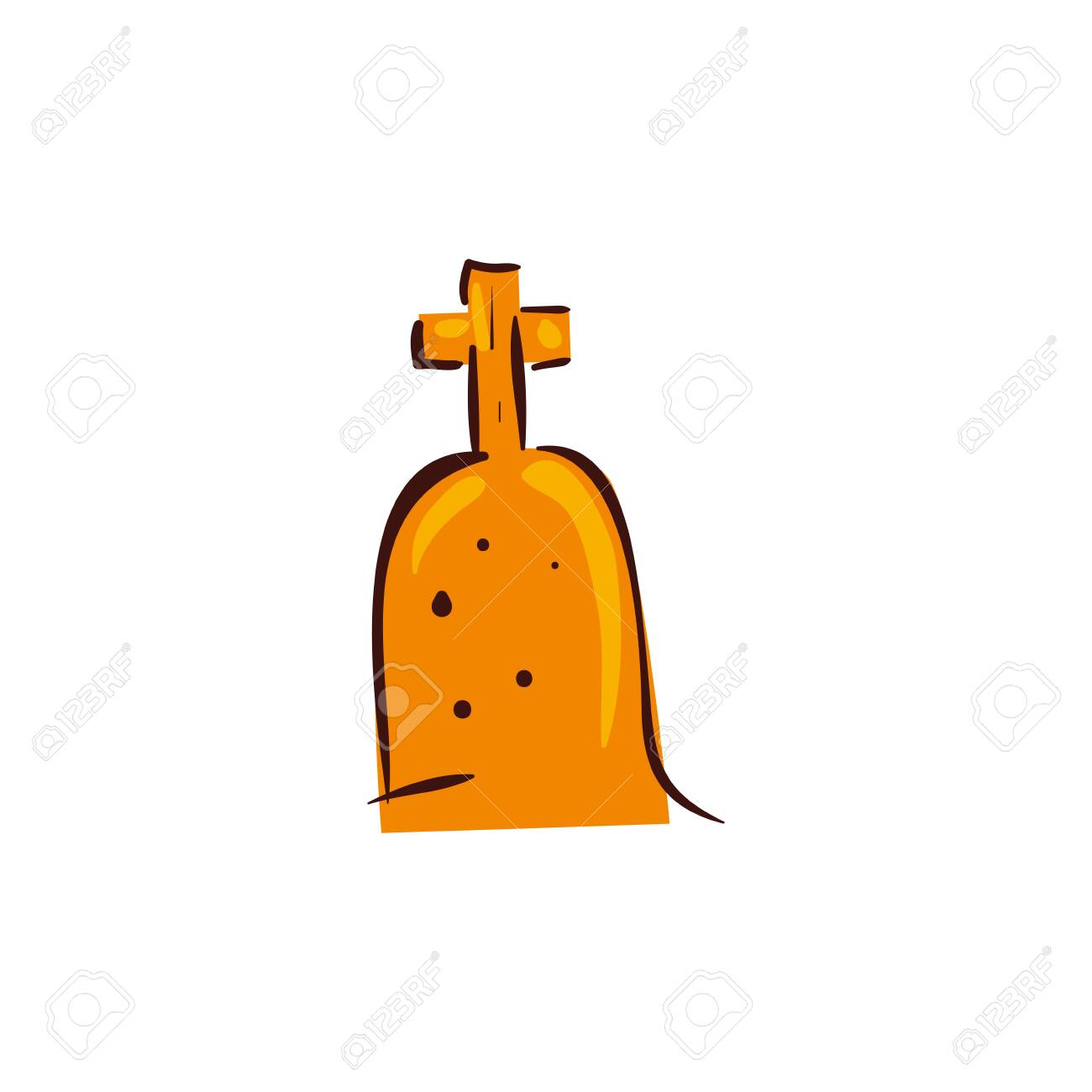 halloween tomb of cemetery isolated icon vector illustration design - 136815707