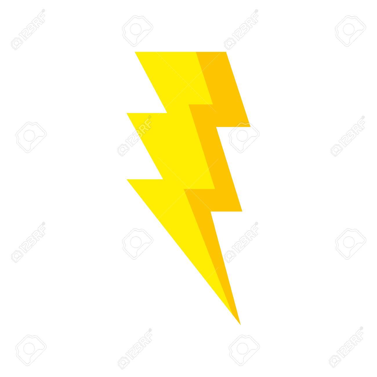thunderbolt pop art style icon vector illustration design - 137415930