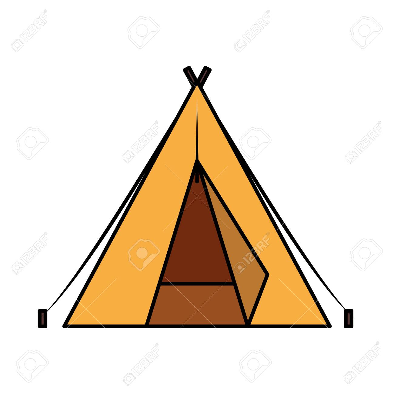 tent camping accessory isolated icon vector illustration design - 137692830