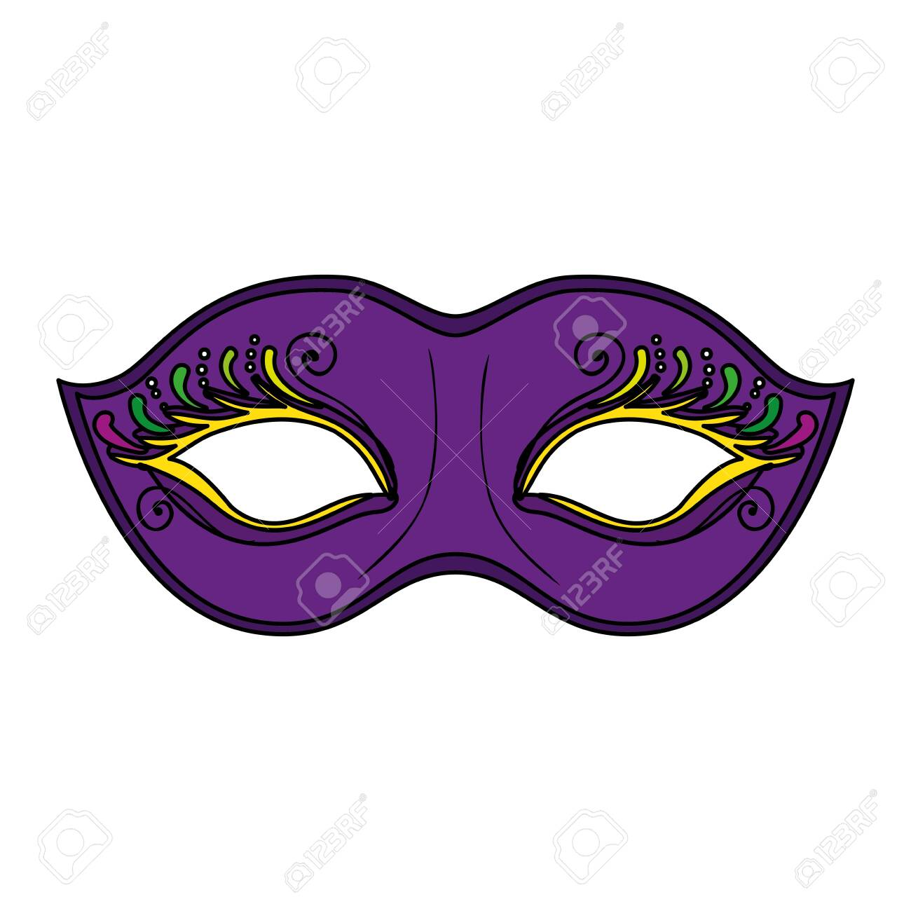 Mardi gras mask design, Party carnival decoration celebration festival holiday fun new orleans and traditional theme Vector illustration - 139163754