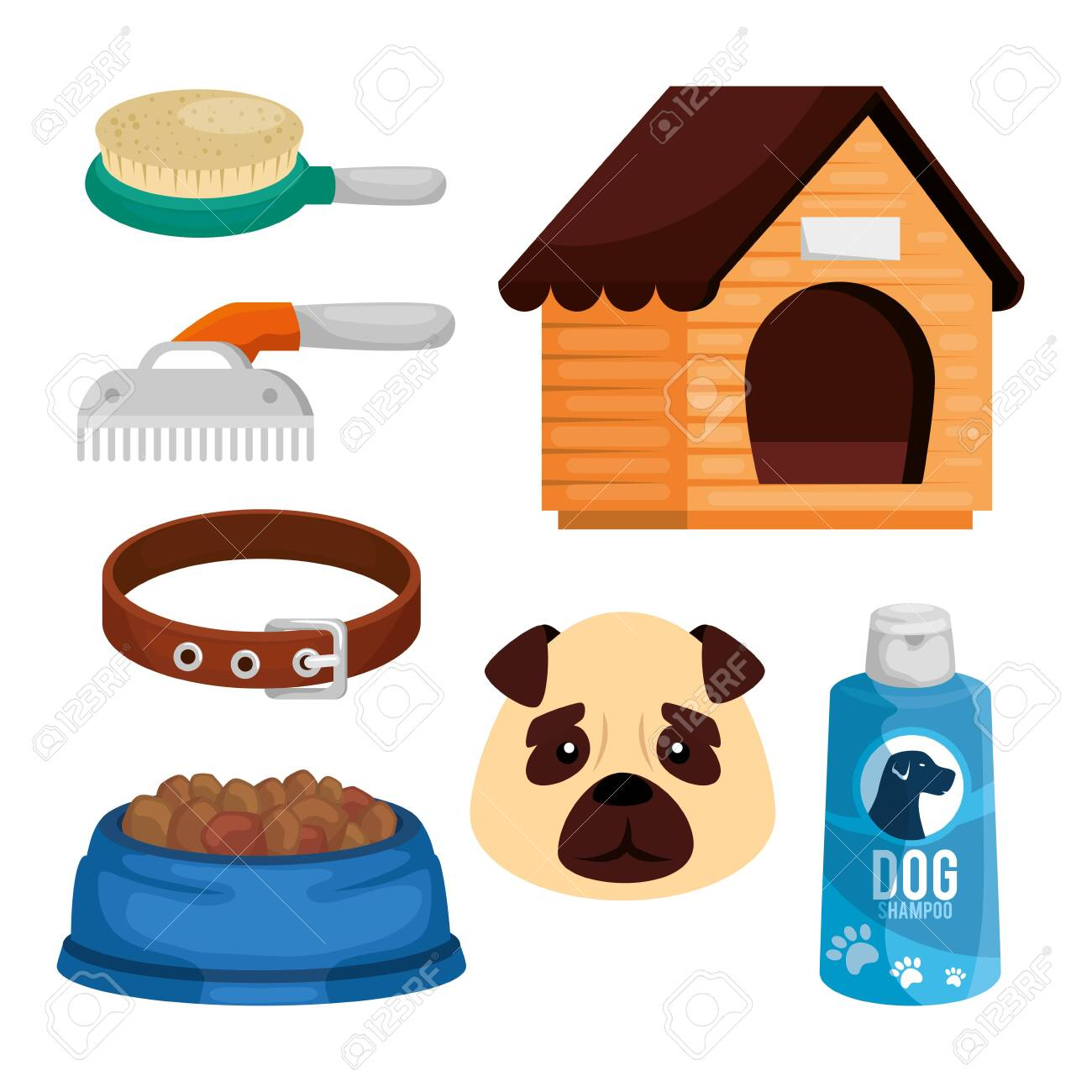 set items pet shop icons vector illustration design - 140587494