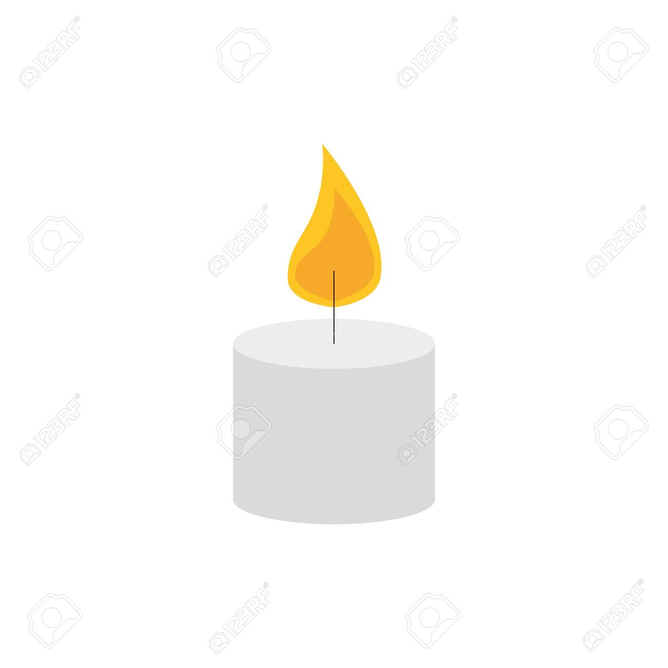 paraffin candle with flame icon vector illustration design - 142715195