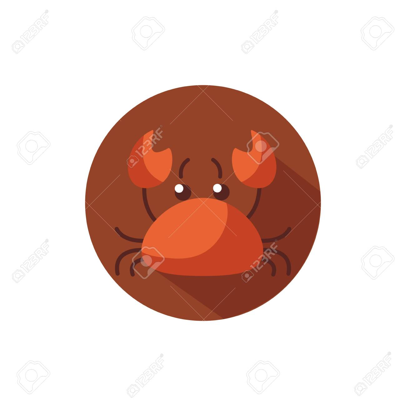 crab sea animal block style icon vector illustration design - 151260635