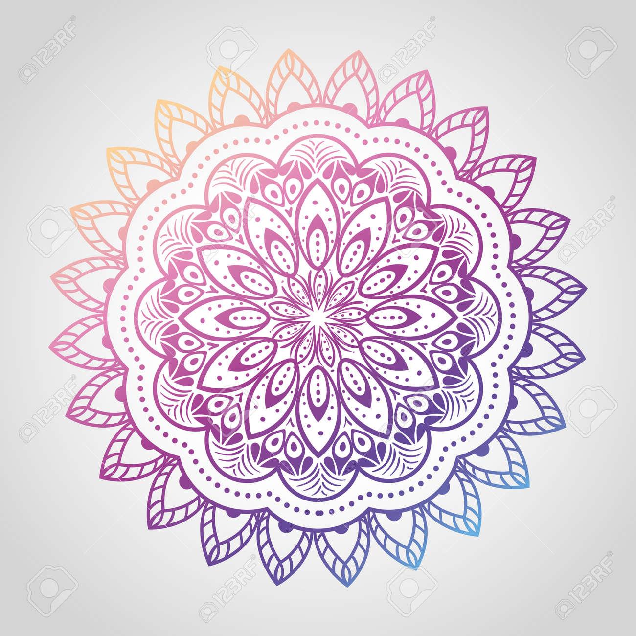 floral mandala of differents colors, vintage luxury mandala, ornamental decoration vector illustration design - 153933850