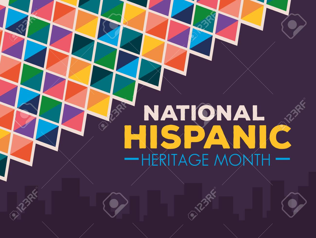 hispanic and latino americans culture, national hispanic heritage month in september and october, banner and background vector illustration design - 154555766