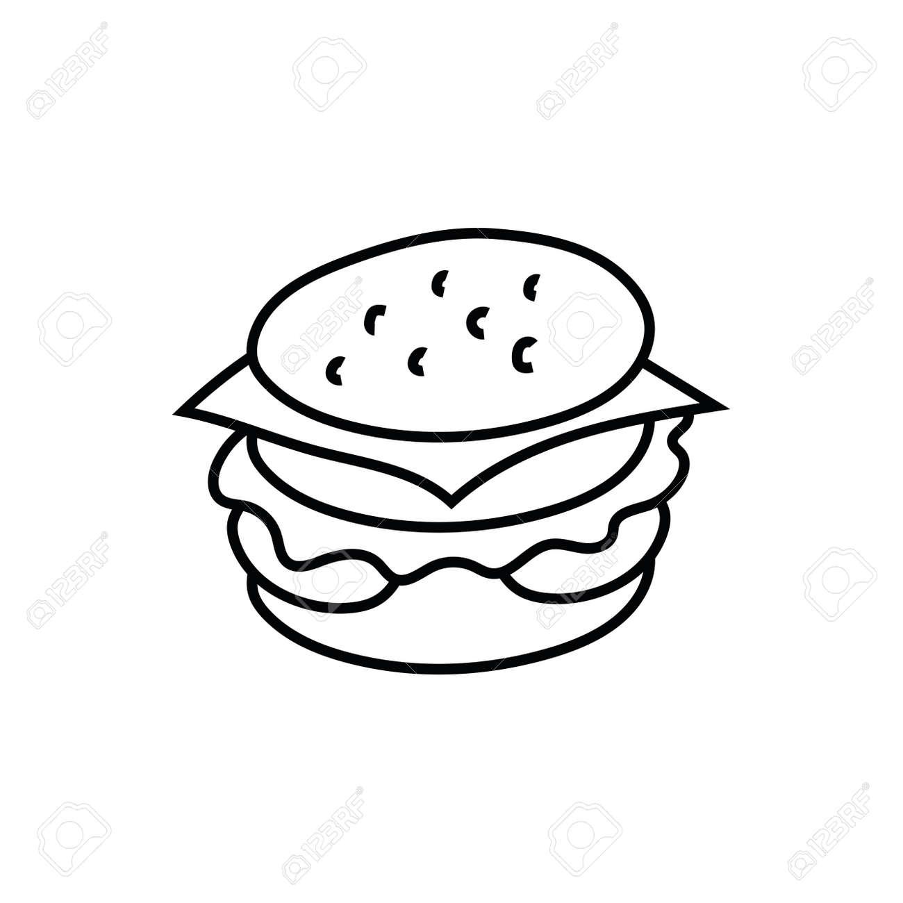 delicious burger fast food icon vector illustration design - 155254605
